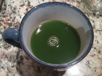 Brewed matcha tea