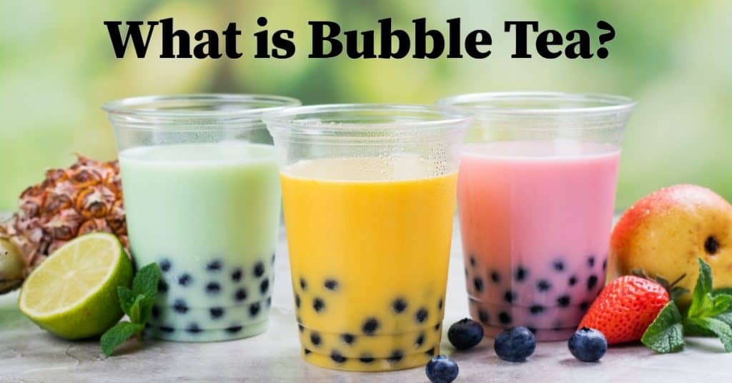 3 cups of bubble tea next to each other