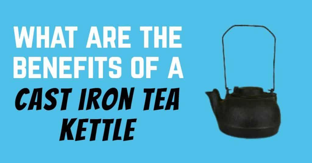black cast iron tea kettle