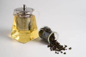 green tea in a teapot